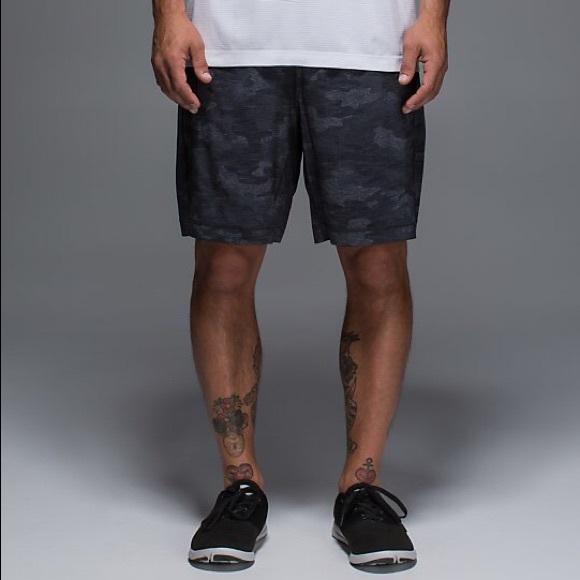 afbecb411c7e lululemon athletica Other - Lululemon Pace Breaker Camo Shorts Blue Black  Grey